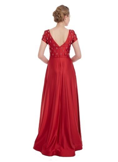 Pierre Cardin Uzun Abiye Elbise Kırmızı